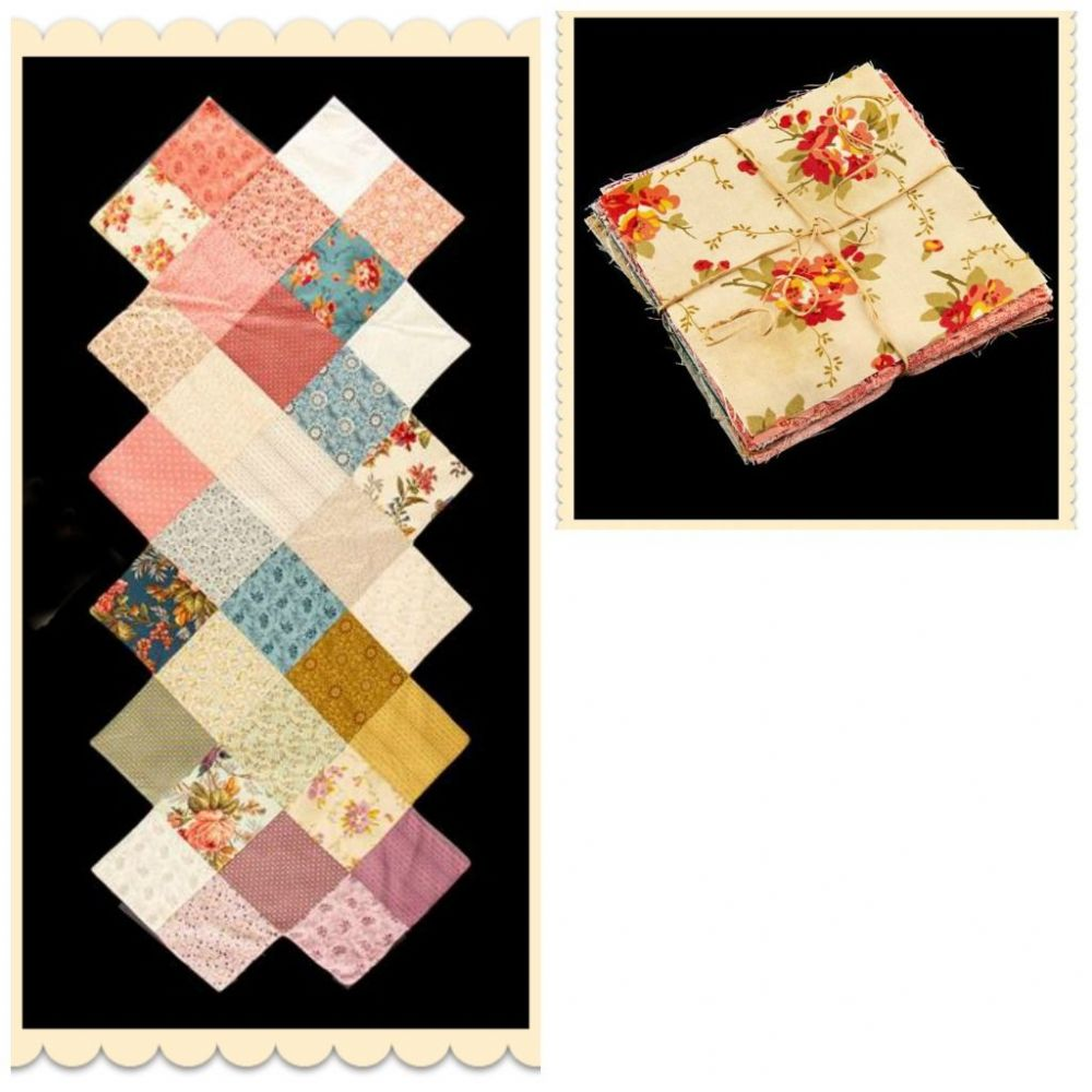Bed Of Roses Charm Pack And Zig Zag Table Runner Pattern